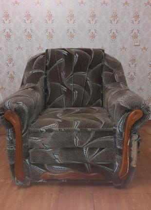 Диван + кресло Б/У
