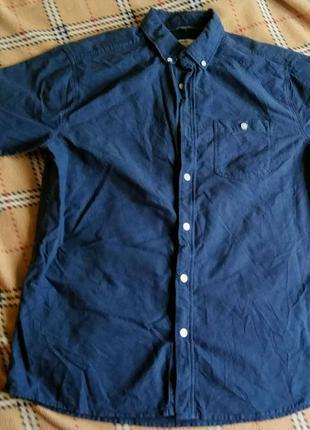 Сорочка на короткий рукав - george casual синя - м