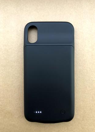 Чехол зарядка (аккумулятор) для iPhone X/XS 3200 mAh black