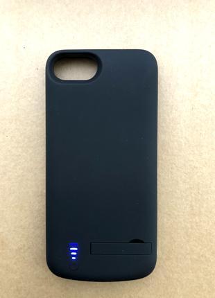 Чехол зарядка (аккумулятор) для iPhone 6/6s/7/8 black 5500mAh