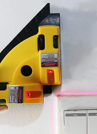 Лазерный угольник уровень 90 градусов с креплением