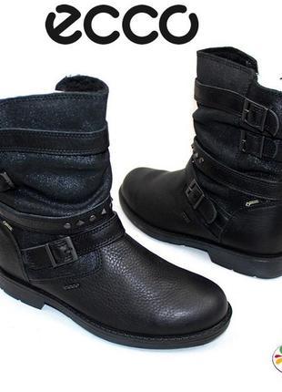 Ecco кожа мембранные ботинки 36,5 р 37,5 р оригинал