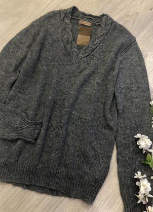 Классный мужской свитер, вязаный мужской свитер,