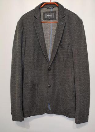 Manguun стильный серый пиджак без подкладки