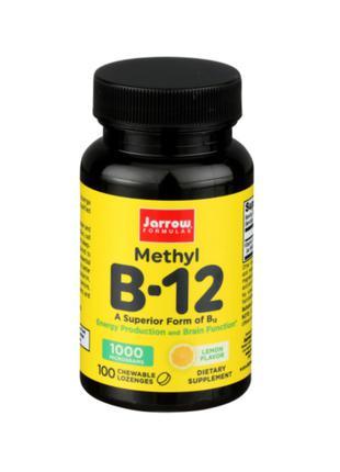 Витамин Метил B-12, Метилкобаламин, 1000 мкг, Jarrow, 100 шт
