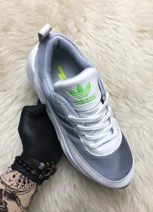Adidas sharks white gray. мужские серые белые кроссовки адидас.
