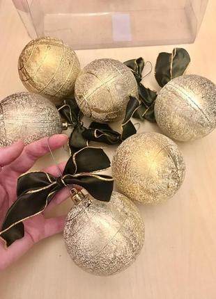 Набор шаров декор для ёлки