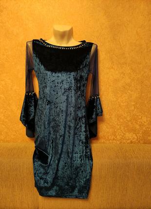 Платье нарядное королевский бархат велюр