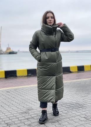 Пуховик женский зима длинный 10198