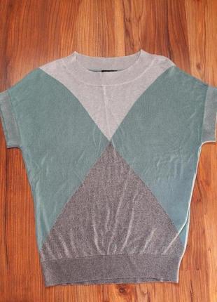 Трикотажная блузка/топ/футболка/блузон мятного цвета тифани