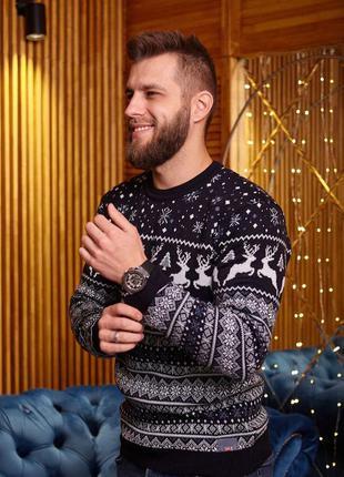 Мужской свитер с оленями 🦌