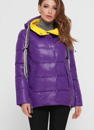 Куртка женская зимняя теплая фиолетовая
