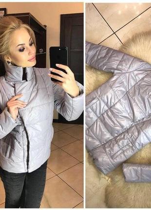Женская короткая зимняя куртка с воротником-стойкой, разные цв...