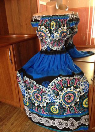 Легкое, невесомое платье, сарафан, верх резинка, штапель