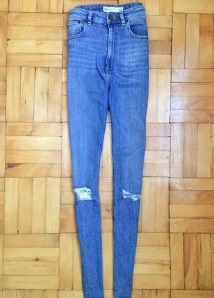 Стильные джинсы asos с завышенной талией, высокой посадкой, дж...