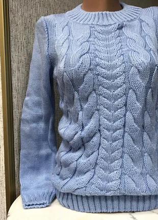 Модный теплый свитер косы, качество супер, размер универсал 42-46