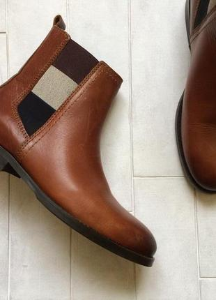 Кожаные ботинки челси tommy hilfiger оригинал, сапоги, черевик...