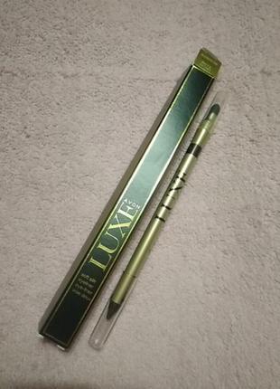 Гелевый карандаш для глаз со спонжем для растушевки luxe avon