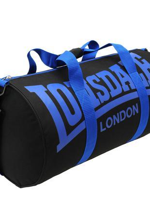 Спортивная сумка Lonsdale Barrel Black Navy Оригинал Чёрный Синий