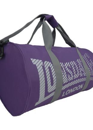 Спортивная сумка Lonsdale Barrel Purple Grey Оригинал Фиолетовая