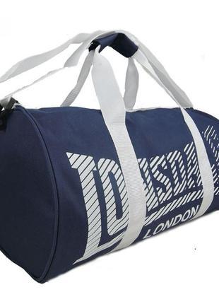 Спортивная сумка Lonsdale Barrel Navy white Оригинал Синий белым
