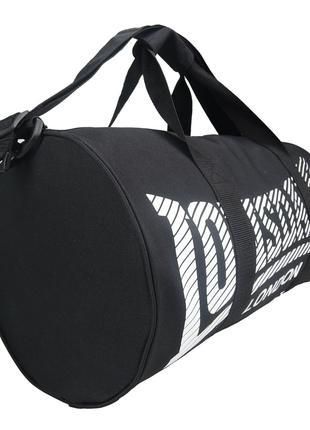 Сумка спортивная Lonsdale Barrel Black White Оригинал чёрная белы