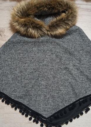 Шикарне італійське пончо накидка пальто
