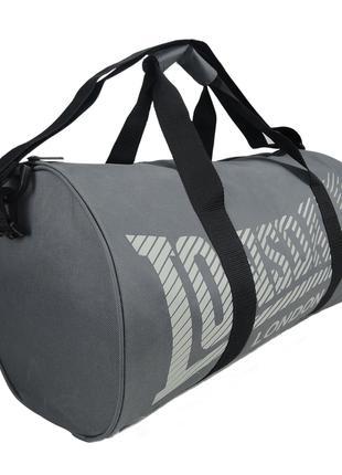 Сумка спортивная Lonsdale Barrel Charcoal Grey Оригинал Серый