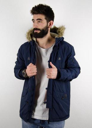 Brave soul парка демисезонная с мехом зимняя куртка