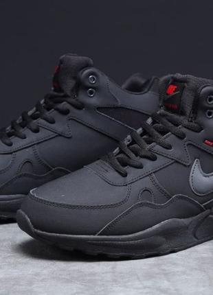 Зимние мужские кроссовки Nike ZooM Air Span черные Р.41,42,43,...