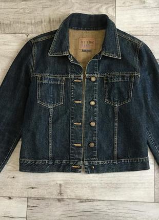 Куртка котонка джинсовый пиджак женский zara л