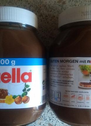 Шоколадно Ореховая паста Nutella Нутелла 1 кг, 825 грамм, Герм...