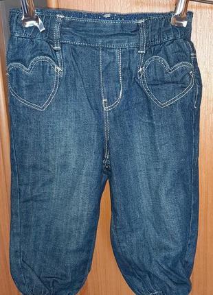 Утепленные джинсы на девочку h&m