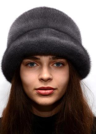 Женская зимняя норковая шляпа чарли