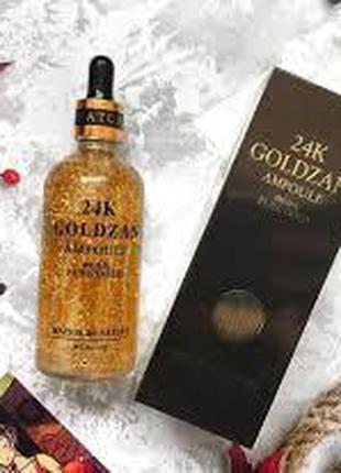Антивозрастная Сыворотка 24K Gold Ampoule Goldzan с пептидами