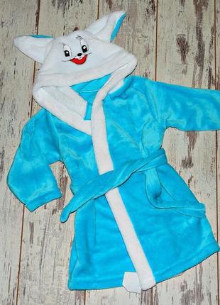 Детский махровый халат на 80-116см-цвета разные