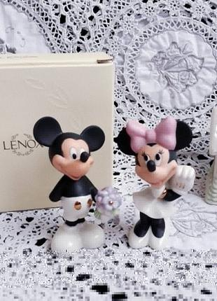 Солонка и перечница Lenox Disney Микки и Минни фарфор