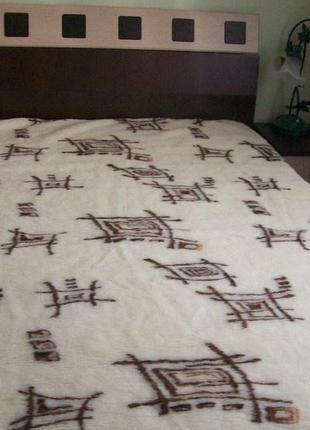 Одеяло из овечьей шерсти двуспальное шерстяное