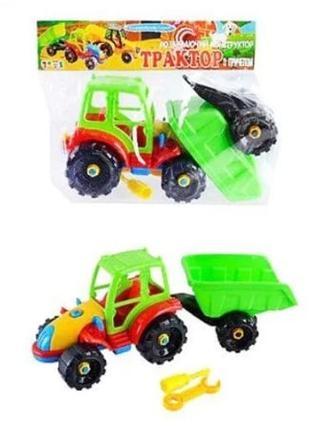 Трактор с прицепом (конструктор)