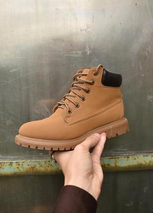 Atmosphere оригинал! женские коричневые  ботинки из нубука на ...
