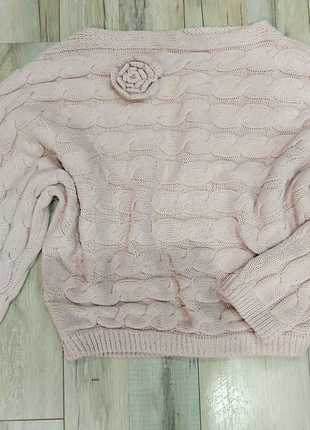 Ажурный вязаный свитер косы