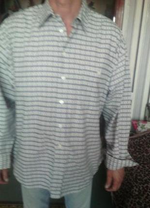 Классная рубаха большого размера xl ворот 43/44 укр 58 Франция