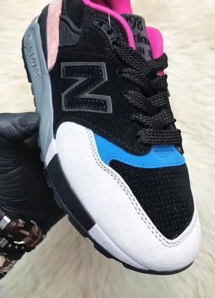 New balance 998 black peach. женские замшевые кроссовки нью бе...