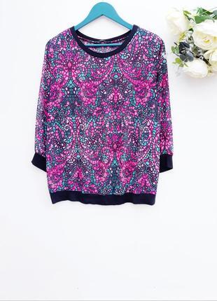 Шифоновая блузочка свитшот красивая блуза