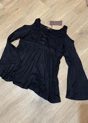 Кофта блузка открытые плечи /для беременной