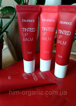 Тинт для губ Deoproce Tinted Lip Balm 10g Red