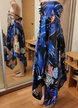 Асимметричный сарафан платье