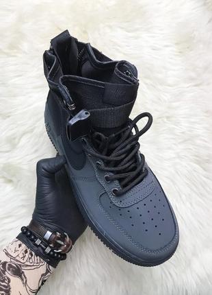 Nike air force special field utility black. мужские чёрные дем...