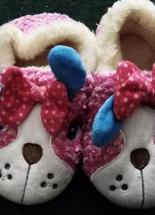 Тапочки комнатные Собачки для девочки теплые