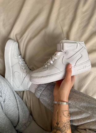 Nike air force 1 high white белые